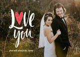 Love you romantic photo - Valentine's Day Card