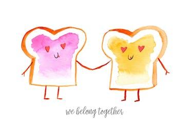 PB & J - Valentine's Day Card