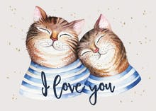 Cats in love - Love Card