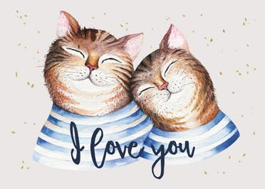 Cats in love - Valentine's Day Card