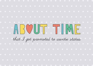 About Time - Baby Shower & New Baby Card
