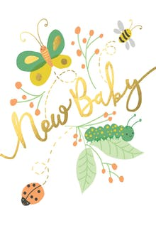 Baby Buggies - Baby Shower & New Baby Card