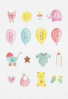 Baby Love - Baby Shower & New Baby Card