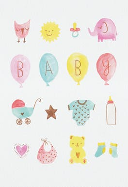 Baby Love - Congratulations Card