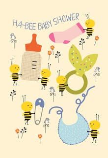 Baby Shower Buzz - Card
