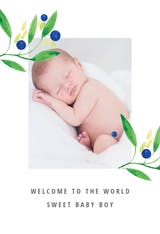 Blueberry fields - Baby Shower & New Baby Card