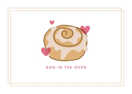 Bun In The Oven Baby Shower New Baby Card Greetings Island