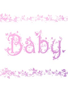 Decorated Baby Pink - Card