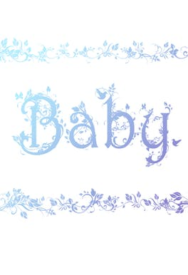 Decorated Baby Blue - Baby Shower & New Baby Card