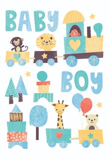 delivery express baby shower new baby card - New Born Baby Card