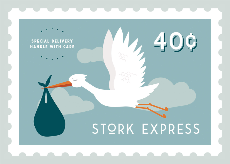Stork Express Baby Shower Amp New Baby Card Greetings Island