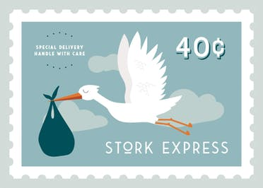 Stork Express - Baby Shower & New Baby Card