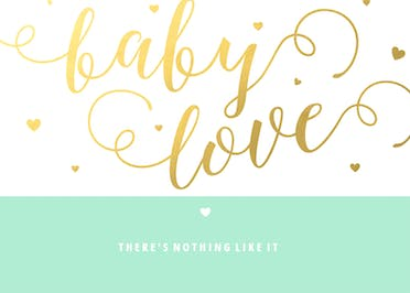Sweet Script - Baby Shower & New Baby Card