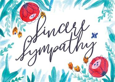 Floral - Sympathy & Condolences Card