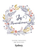 In Remembrance - Sympathy & Condolences Card