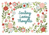 Loving Thoughts - Sympathy & Condolences Card