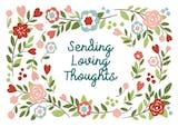 Loving Thoughts - Tarjeta De Condolencias