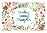 Loving Thoughts - Sympathy & Condolences Card