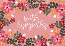 With Sympathy - Sympathy & Condolences Card