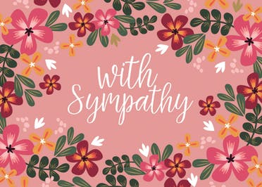 With Sympathy - Sympathy & Condolences Card