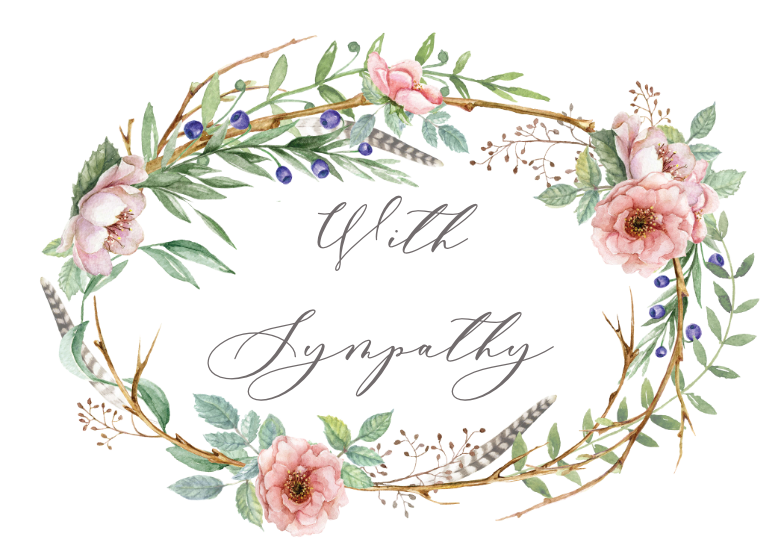 It is a photo of Sympathy Cards Printable inside template