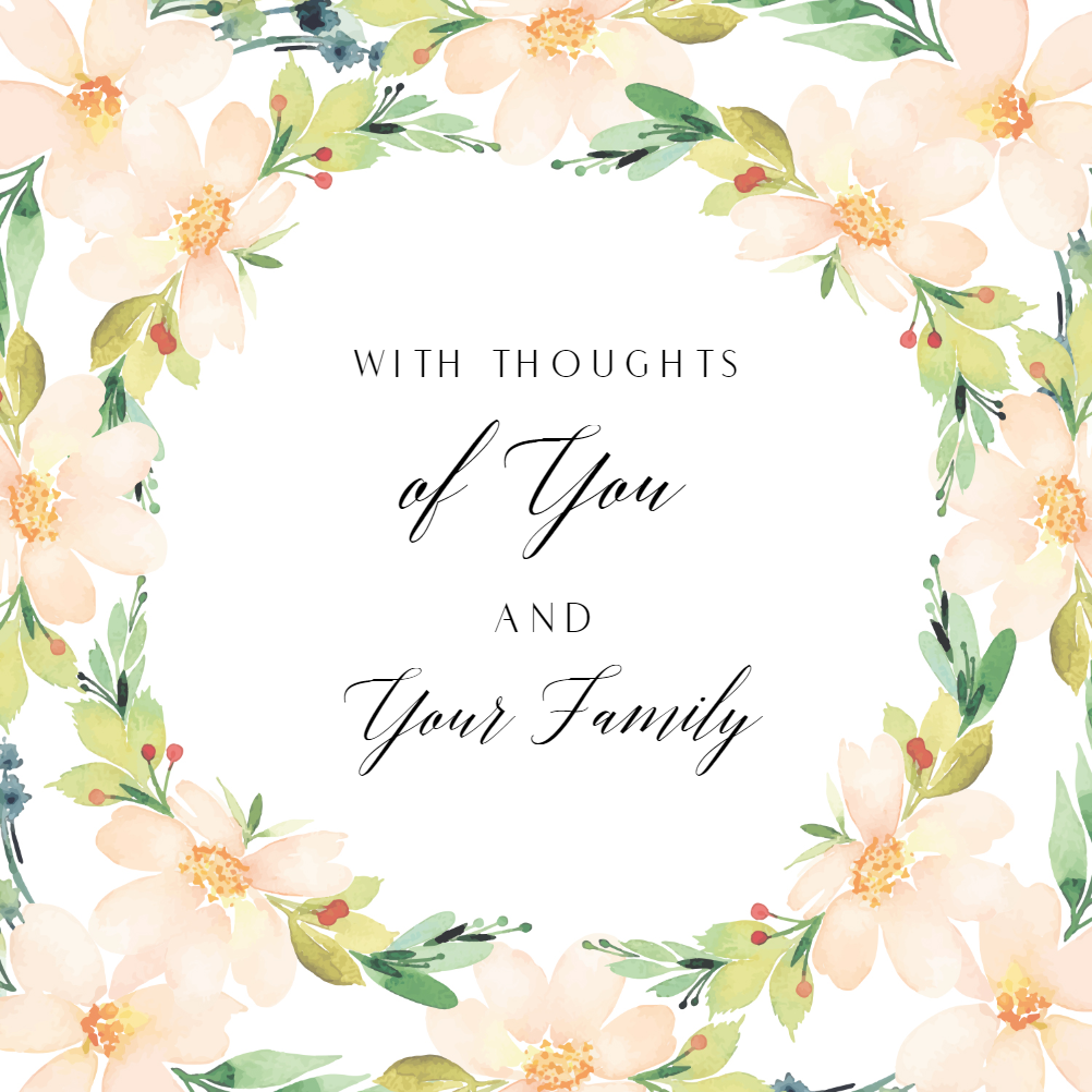 This is a graphic of Sympathy Card Printable for color