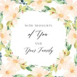 You and Yours - Sympathy & Condolences Card