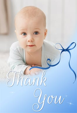 Baby Special Celebration - Baby Thank You eCard