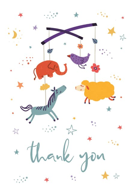 Thank You Letter For Baby Shower.Bundle Of Joy Baby Shower Thank You Card Free Greetings Island
