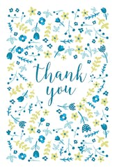 Floral Focus - Printable Baby Thank You Card