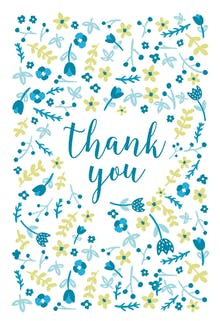 Floral Focus - Baby Thank You Card