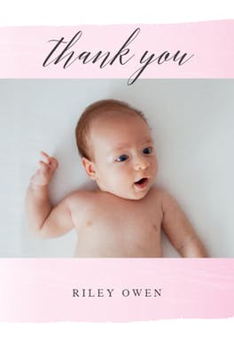Stepping Up - Baby Thank You Card