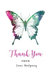 Butterflies - Printable Birthday Thank You Card