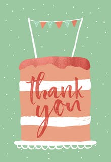 Huge Cake - Birthday Thank You Card