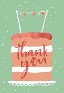 Huge Cake - Birthday Thank You eCard
