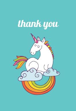Unicorn Magic - Birthday Thank You Card