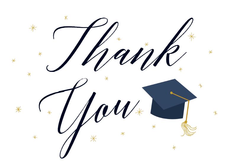 Graduation Thank You Cards: Free Graduation Thank You Card
