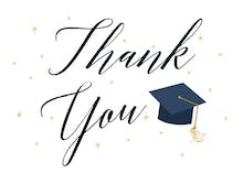 Graduate Script - Printable Graduation Thank You Card