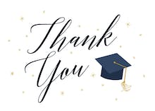Graduate Script - Graduation Thank You Card