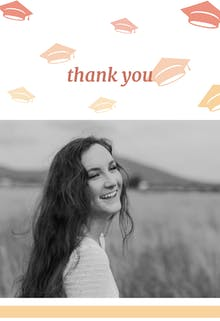 Light Orange - Graduation Thank You Card