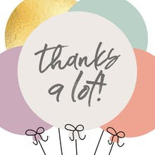 Cute Balloons - Thank You Card Template