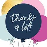Balloons - Thank You Card