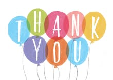 Balloons - Thank You Card Template