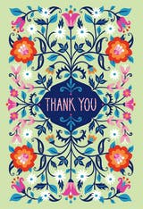 Batik Blooms - Thank You Card