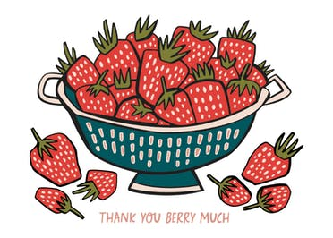 Berry Sweet - Thank You Card Template