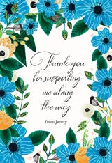 Blue & Orange - Thank You Card Template