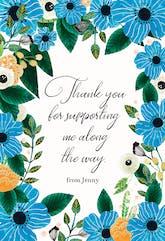 Blue & Orange - Thank You Card Template