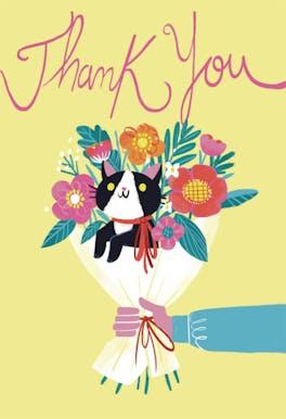 Bonus Bouquet - Thank You Card Template
