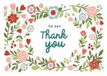 Bountiful Blooming - Thank You Card Template