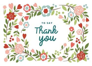 Bountiful Blooming - Thank You Card Template